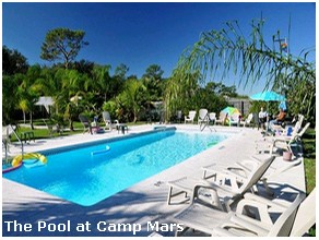 The Pool at Camp Mars gay campground in Florida